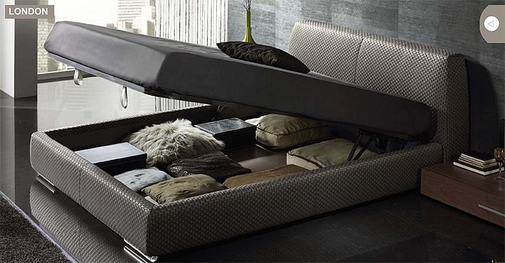 Camas tapizadas nueva colecci n kimobel dise o - Dormitorios con canape ...