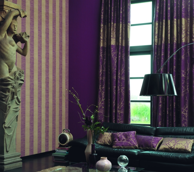 ambiance rayure violette 013